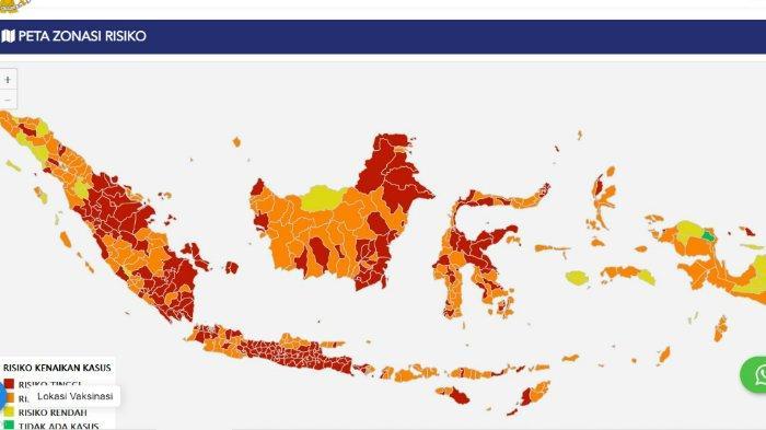 5 Kabupaten/ Kota di Sulawesi Tenggara Zona Merah Covid-19, 12 Daerah Zona Orange Virus Corona