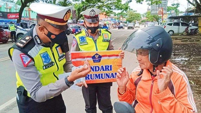 Operasi Patuh Anoa 2021, Petugas Satlantas Polres Konawe Utamakan Prokes dan Tertib Lalulintas