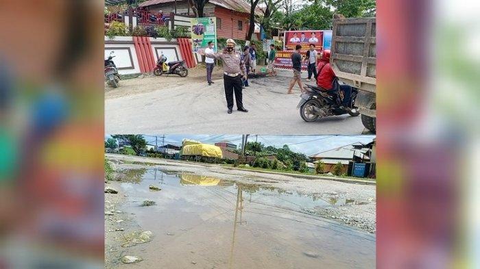 Polisi Atur Lalu Lintas di Jalan Provinsi yang Diblokade Warga Kota Kendari, Antisipasi Kemacetan