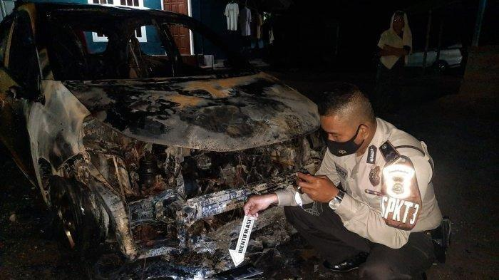 Mobil Honda Brio Diparkir di Halaman Rumah Tiba-tiba Terbakar, Polisi Temukan Korek Api