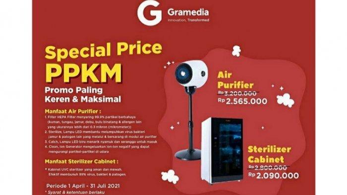 Gramedia Kendari Hadirkan Spesial Price PPKM untuk Alat Kesehatan, Berlaku hingga 31 Juli 2021