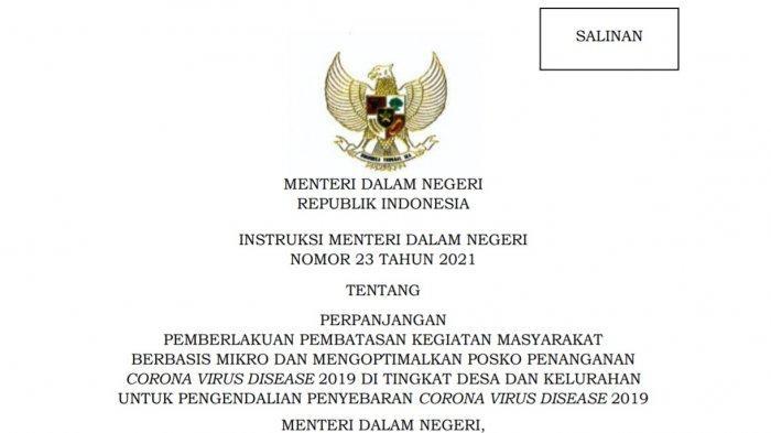 PPKM Mikro Kendari Diperpanjang, Perpanjangan Hingga 25 Juli 2021, Aturan Level 3 Instruksi Mendagri
