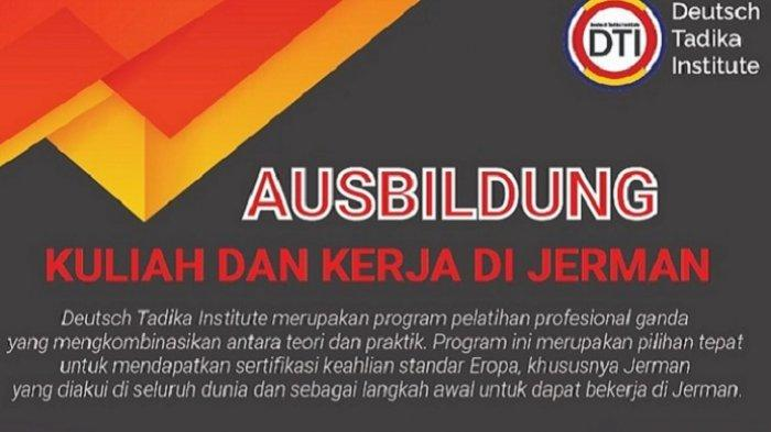 Daftar Program Deutsch Tadika Institute, Bisa Kuliah Sambil Kerja di Jerman dengan Gaji Rp11,5 juta