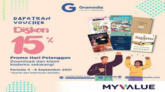 Gramedia Kendari Sediakan Promo Diskon 15 Persen untuk Pembelian Buku 4-6 September 2021