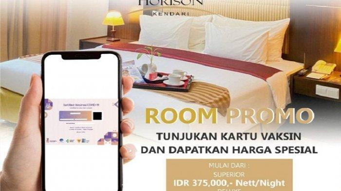 Dengan Kartu Vaksin, Bisa Dapat Promo Kamar PPKM di Horison Kendari Hotel