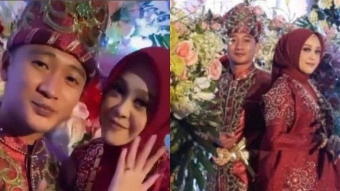 Ipda Fadly Fachrezi Konggoasa dan Megawaty Putri Syaeful Mamma usai prosesi lamaran di Makassar, Rabu (23/06/2021). Ipda Fadly Fachrezi merupakan anak kedua dari Bupati Konawe Kery Saiful Konggoasa.