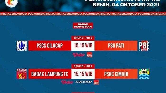 SEDANG BERLANGSUNG PSCS Cilacap vs PSG Pati Liga 2, Live Vidio Pukul 15.15 WIB KLIK Link di Sini