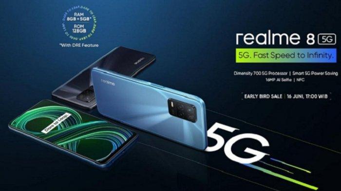 Spesifikasi Realme 8 5G, Diklaim sebagai Ponsel Pintar 5G dengan Harga Termurah di Indonesia