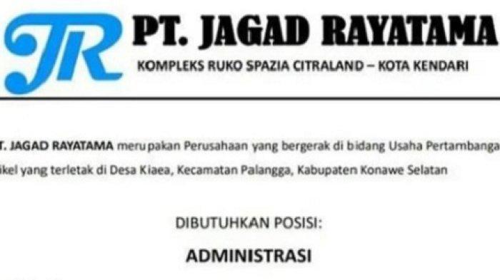 Lowongan Kerja PT Jagad Rayatama. Rekrutment Administrasi, Berikut Kualifikasi dan Cara Daftarnya