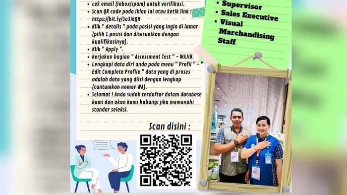Lowongan Kerja Kendari, Informa Rekrutmen Supervisor, Sales Executive dan Visual Merchandising Staff