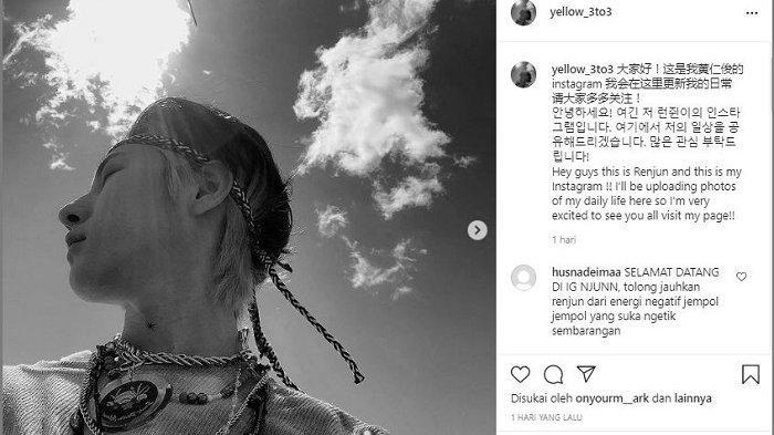 Renjun menjadi member boy group Korea Selatan, NCT berikutnya yang menggunakan Instagram.