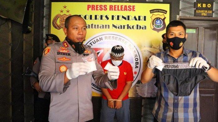Polres Kendari Bongkar Sabu Disembunyikan di Celana Dalam, Tersangka Terancam Penjara Seumur Hidup