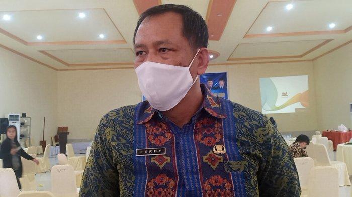 Sekretaris Daerah Kabupaten Konawe, Ferdinand, saat ditemui, di Hotel Tiga Putra Unaaha, Kamis (25/2/2021).