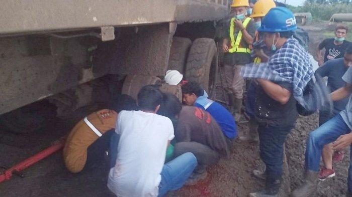 Pekerja di Morosi Konawe Tewas saat Perbaiki Mobil 12 Roda, Gegara Ditabrak Dump Truk