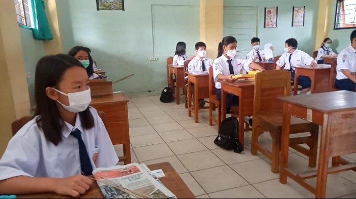 PTM Terbatas SMP Frater Kendari, Sekolah Masih Khawatir hingga Pulangkan Murid Akibat Kurang Sehat