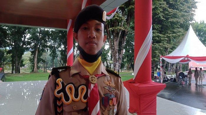 Sosok Wahyu Ramadan, Anak Yatim asal Konawe Jadi Pemimpin Upacara Hari Pramuka 2021 di Sultra