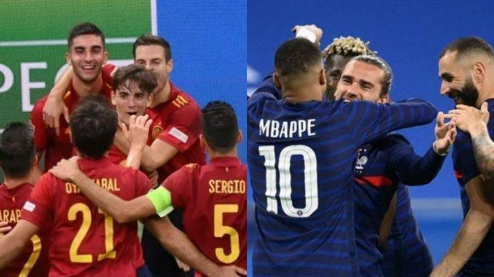 Live Streaming Spanyol vs Prancis Final UEFA Nations League, Duel Tim Terbaik dan Anak Muda Matador