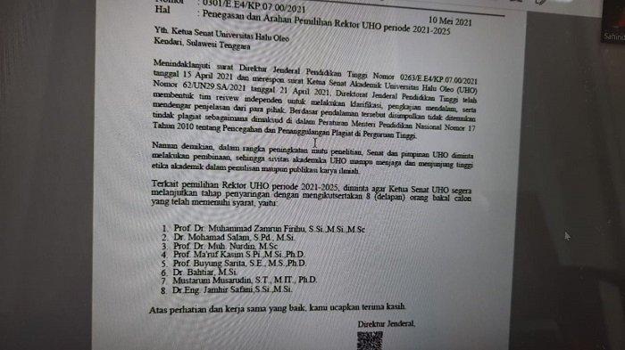 BREAKING NEWS: Kemendikbud Anulir Putusannya Sendiri, Kini Prof Zamrun Tak Plagiat, Pilrek Dilanjut