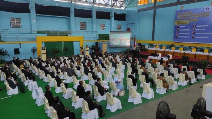 Pemaparan Visi Misi Balon Rektor UHO Secara Daring, Penjagaan Ketat hingga Menerapkan Prokes