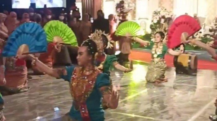 Tarian Empat Etnis Ditampilkan di Pernikahan Ipda Fadly Fachrezi Konggoasa dan Megawati Putry