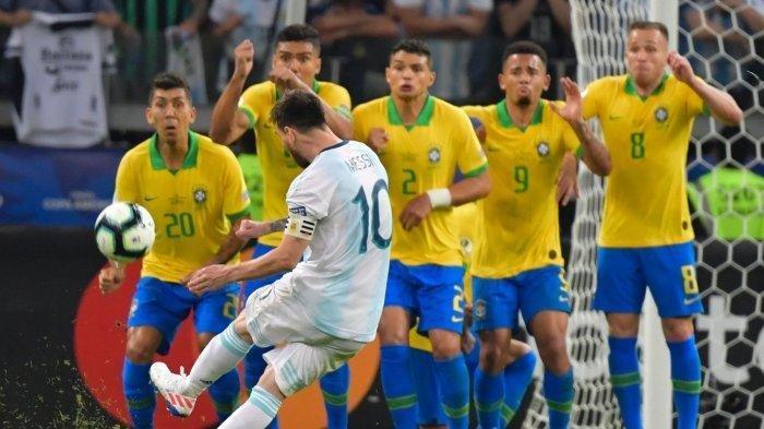 Siaran Langsung www.mola.tv Kualifikasi Piala Dunia 2022, Brasil vs Argentina Pukul 02.00 WIB
