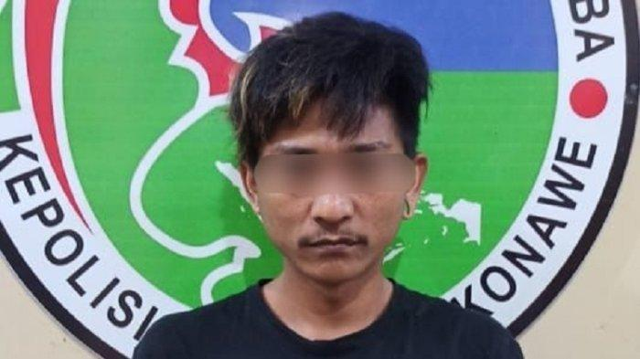 Pria Asal Anggopiu Kabupaten Konawe Ditangkap Polisi, Simpan Sabu di Bawah Kompor Gas