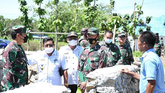 Tim Mabes TNI AD Mengecek Pembangunan Gedung Kodim Baru di Bombana