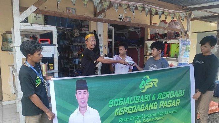 Roadshow di Pasar Sentral, ASR Kolut Sosialisasikan Mayjend TNI Purn Andi Sumangerukka