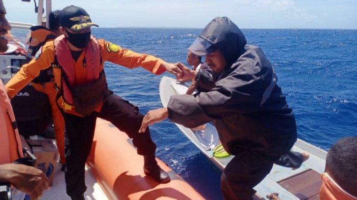3 Nelayan di Wakatobi Terombang-ambing di Laut, Kapal Mati Mesin, Dievakuasi Tim SAR