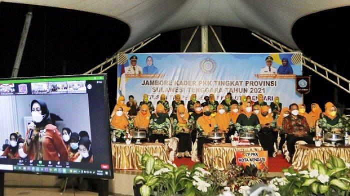 TP-PKK Kota Kendari Juara 1 Lomba Devile dan Kesenian Jambore PKK se-Sulawesi Tenggara