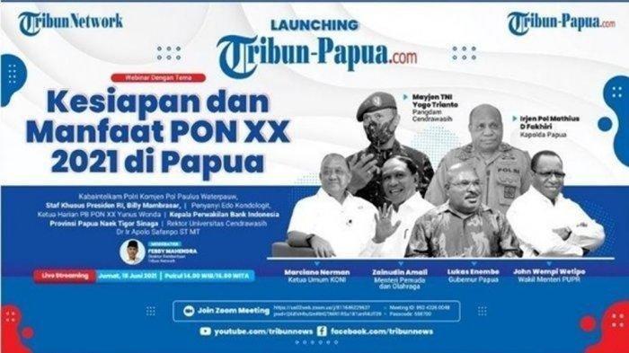 Hadiri Launching Tribun-Papua.com, Waketum KONI Pusat Sampaikan Update Persiapan PON XX Papua