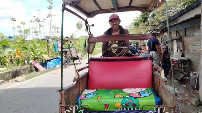 Tukang Becak Kota Lama Kendari Mengeluh Sulit Dapat Penumpang, Sebut Rp50 Ribu Sehari Sudah Syukur