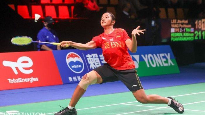 Tunggal putri Indonesia, Ester Nurumi Tri Wardoyo, saat melawan wakil Jerman pada laga perdana Grup A Piala Uber 2020.(badmintonphoto)