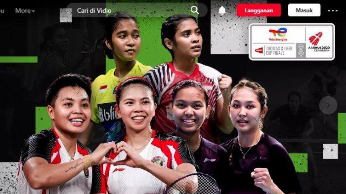 Hasil undian perempat final Piala Uber 2021, Indonesia bakal menghadapi Thailand, Kamis (14/10/2021) pada sesi kedua dan ketiga.