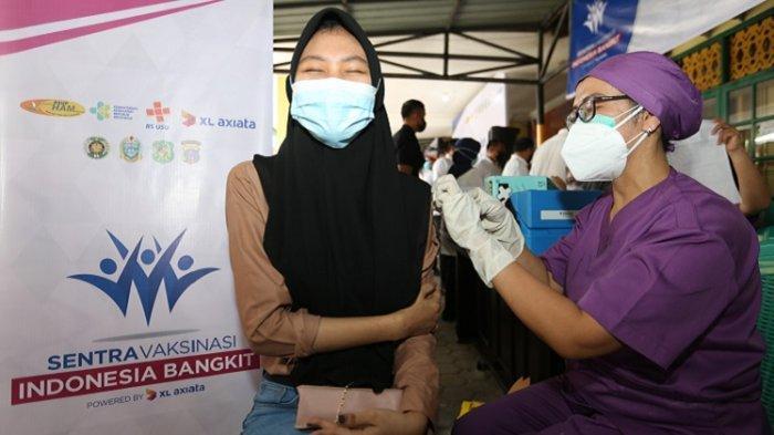 Sentra Vaksinasi Indonesia Bangkit XL Axiata Sudah Suntik Vaksin Covid-19 kepada 12.050 Warga Medan