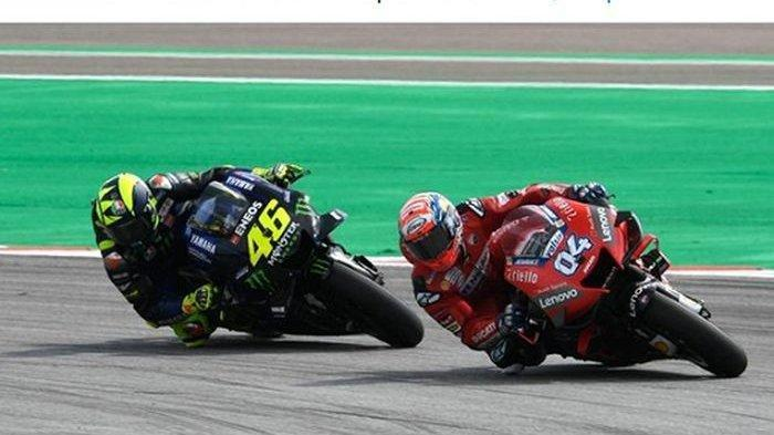 Reaksi Valentino Rossi Duet Andrea Dovizioso di Petronas Yamaha SRT, Tandem MotoGP San Marino 2021