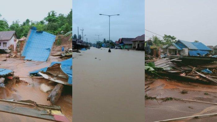 Video Detik-detik Banjir Konawe Utara, Kondisi Terkini di Konut, 4 Desa Terdampak, 2 Desa Terisolir