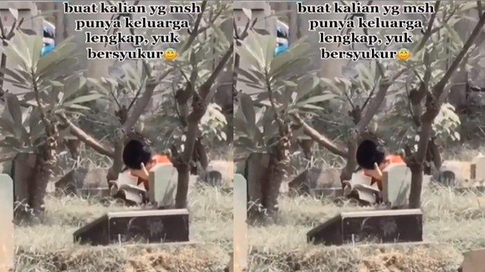 Sebuah video viral yang memperlihatkan seorang bocah sedang berziarah kubur dan membaca yasin sendirian di pemakaman mengundang reaksi pilu warganet.