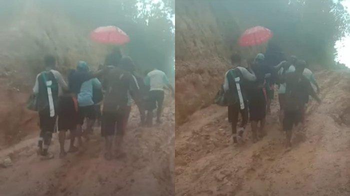Dirjen Transmigrasi Tahu Jalan Rusak di Desa Roda Konsel, Belum Diperbaiki Karena Tunggu Usulan