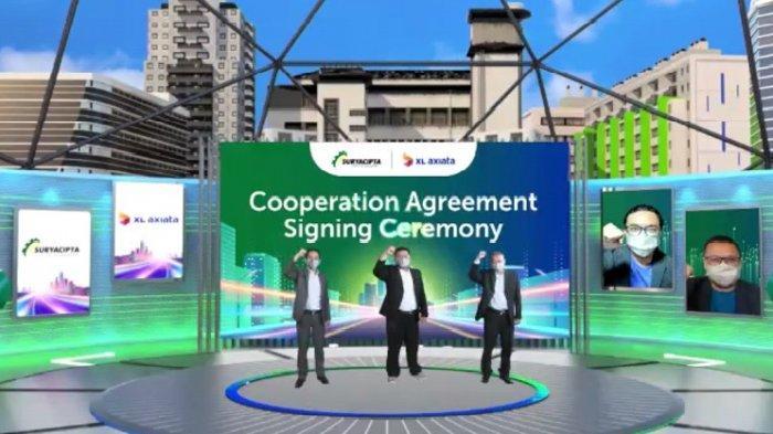 XL Axiata Gandeng Suryacipta Swadaya Sedia Jaringan Fiber Optik & Solusi Bisnis di Kawasan Industri