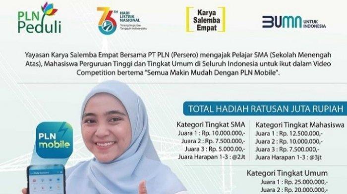 Yayasan Salemba Karya Empat dan PLN Gelar Lomba Video Instagram, Simak Syarat dan Kategorinya