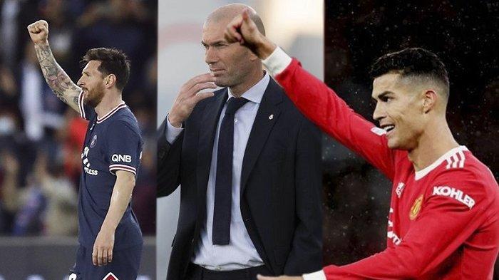 Zidane Pilih Messi atau Ronaldo? Kandidat Pelatih PSG dan Manchester United, Condong ke Pochettinnho