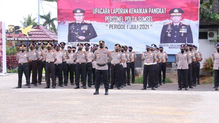 1000 Personel Polda Sumsel Naik Pangkat