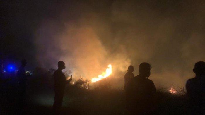 13 Hektar Lahan di Indralaya Utara Terbakar, Kapolres OI Turun ke Lokasi