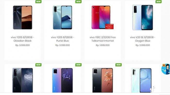 20 Daftar Harga HP Vivo Terbaru November 2020, Ada Vivo Y50, Vivo S1, Vivo V9, hingga Vivo Y71
