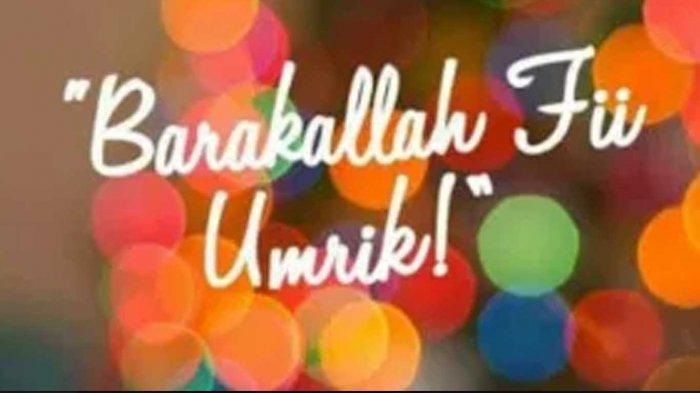 45 Ucapan Selamat Ulang Tahun Islami Barakallahu Fii Umrik Doa Buat Yang Berulang Tahun Tribun Sumsel
