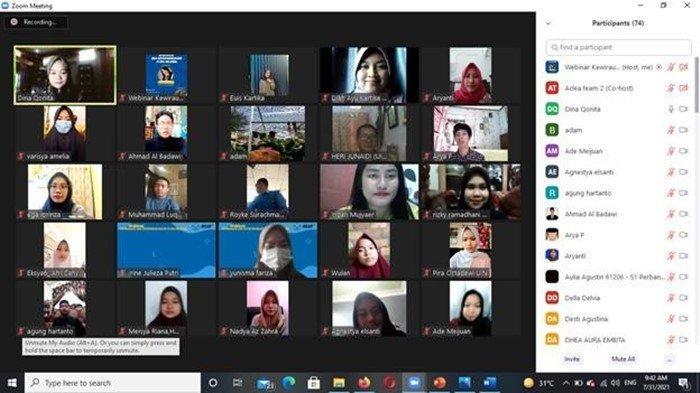 ACLEA Gelar Webinar 'Membangun Jiwa Entrepreneurship di Era Millenial' Bersama Indah Mujyaer