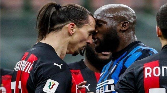 Adu Kepala Romelu Lukaku Vs Zlatan Ibrahimovic,  Inter Milan 3-2 AC Milan, Coppa Italia