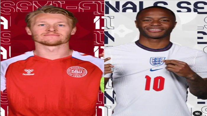 Statistik dan Head to Head Inggris vs Denmark di Semifinal Euro 2020, Tim Dinamit Lebih Unggul