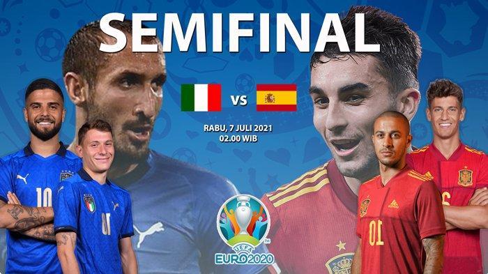 Statistik Italia vs Spanyol di Euro 2020 : Azzurri Terlalu Perkasa di Banding La Furia Roja